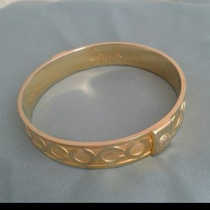 Coach ¤ goldtone - op art ¤ bangle